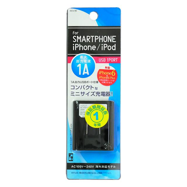 AC充電器USBポート1口タイプ 黒